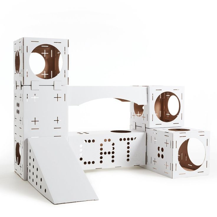 Poopy Cat Blocks Cat Playhouse ** Be sure to check out this helpful article. #CatScratchersandFurniture