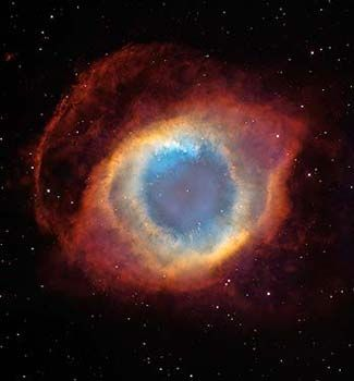 The Helix Nebula: a Gaseous Envelope Expelled By a Dying Star