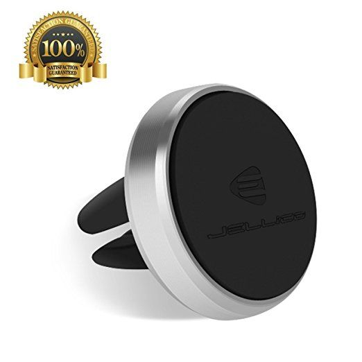 Jellico, Phone Holder, Aluminum Universal Air Vent Magnetic Car Mount, Smart & Elegant with 360° rotation for iPhone 6 / 6S, Samsung Galaxy, Google Nexus Other Smartphones, and GPS...