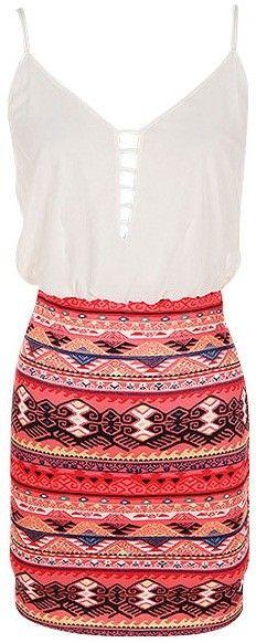 Tribal Printed Dress este vestido es hermoso,lo adoro , decorado con rayas