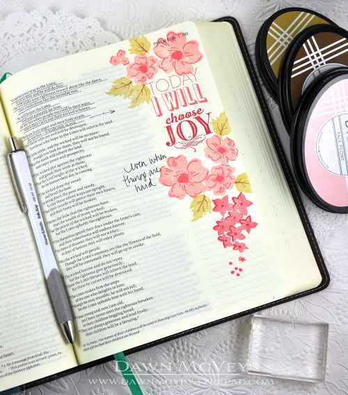 Bible Journaling by Dawn McVey for Papertrey Ink (August 2016)