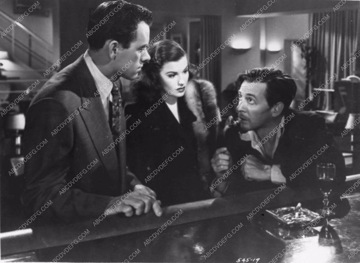 photo John Ireland Sheila Ryan from film noir Railroaded 2752-32