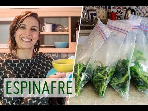 ESPINAFRE: como limpar e armazenar + receita de creme para o inverno - YouTube