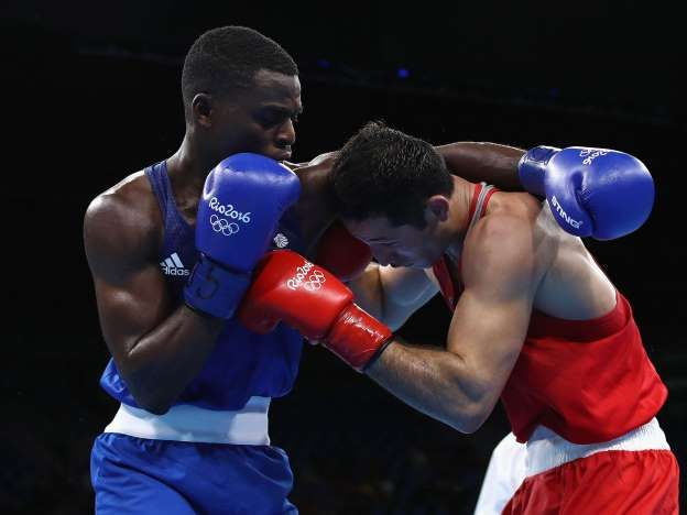 "© Provided by The Independent - Great Britain's Joshua Buatsi (blue) fights Eishoot Rasulov of Uzbekistan in Mens Light Heavyweight bout: ""I had to get the win for the team and I had no fear of him,"" said Buatsi. (Picture: Phil Walter/Getty Images)"