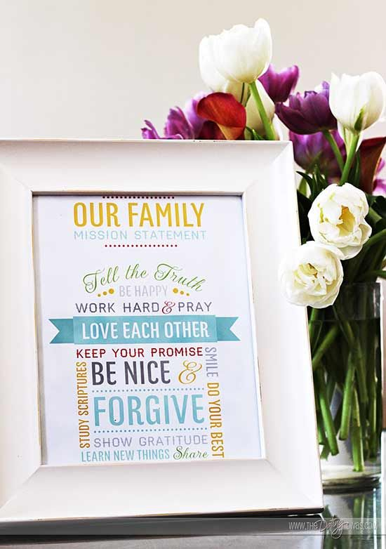 Create Your Own Family Mission Statement