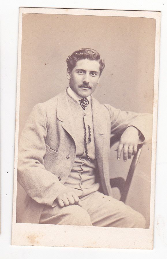 CDV photo antique best looking man on ebay great pose gentle smile hot man