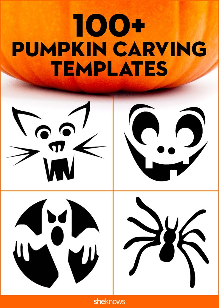 Our complete collection of pumpkin carving templates has a little something for everyone, and the best part is that these printable cutouts are totally doable. #Halloween