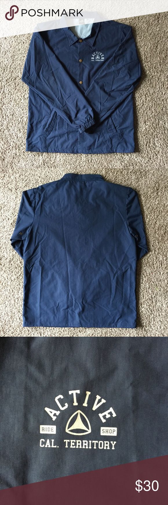 Active Windbreaker Navy blue Active windbreaker. In excellent condition. Active Ride Shop Jackets & Coats Windbreakers