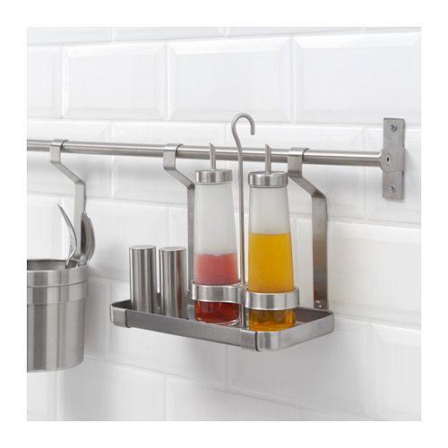 grundtal shelf ikea would be good for dish soap sponge scrub brush etc over sink kitchen. Black Bedroom Furniture Sets. Home Design Ideas