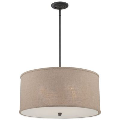 Quoizel Cloverdale 4-Light Ceiling-Mount Round Pendant Light Fixture in  Cocoa