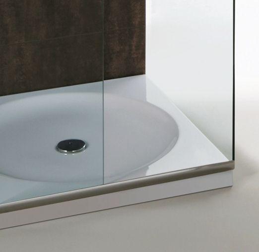 FL41 | Flow Ceramica Simas Shower tray 80×80 glazed on three sides.
