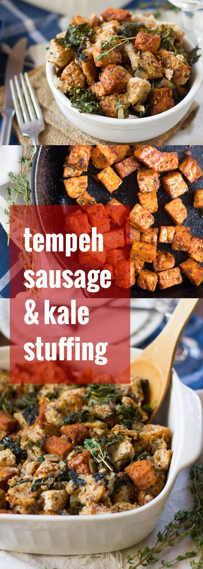 Us potato cuts jpg thanksgiving dinner at restaurant 9501 - Spicy Tempeh Sausage And Garlicky Kale Are Baked Up With Crusty Seasoned Bread Cubes To Make