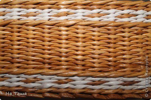 Поделка изделие Плетение Наплела    Бумага газетная фото 9