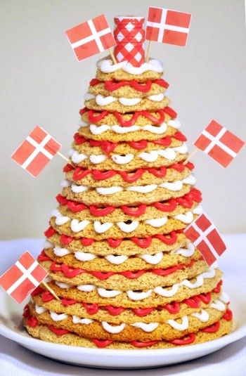 The ultimate wedding cake !! Danish Kransekage, recipe in English from Norpro (recipe included with kransekage forms)