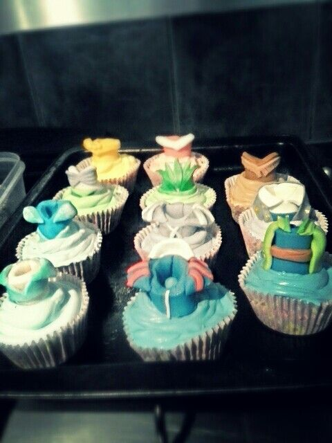 Princess top cupcakes