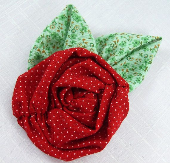 Fabric Flowers Tutorial no. 14 Ruched Roses by SundayGirlDesigns