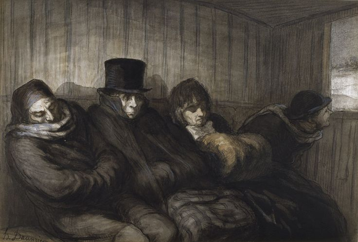 Honore Daumier - The Second Class Carriage