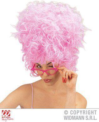 Priscilla Wig Film Fancy Dress- Pink - Ladies Accessory Panto Drag Pride Dress