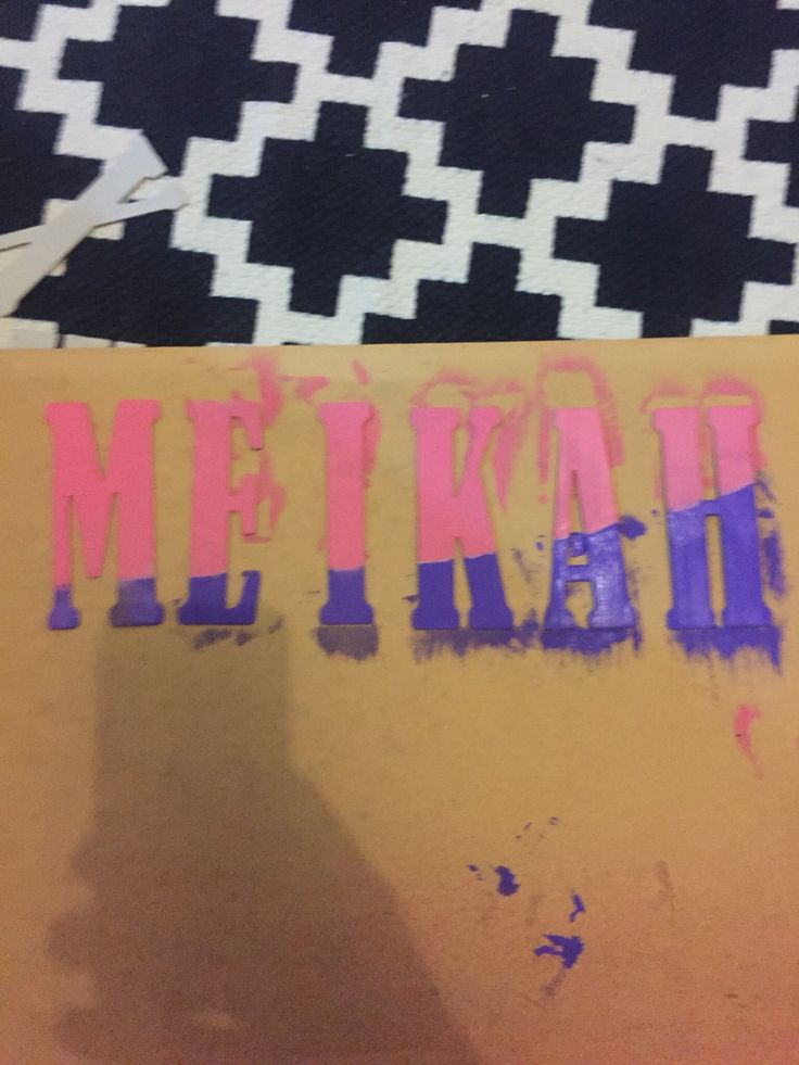 My daughters name, ready to glue on canvas