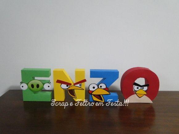 Letras personalizadas angry birds.
