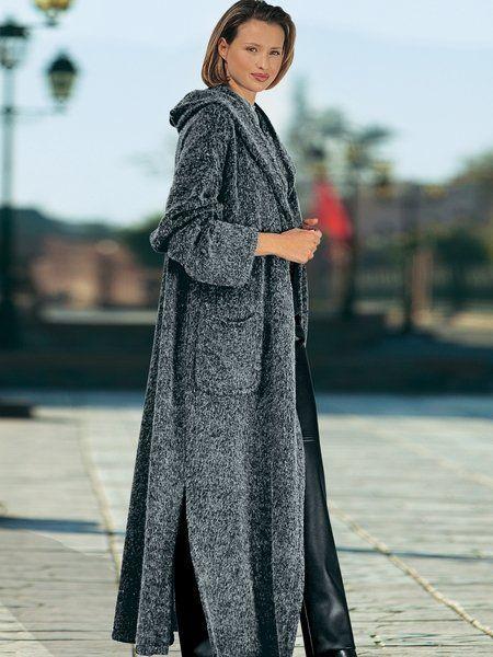 женское вязаное пальто 129 фото 2018 с капюшоном для полных