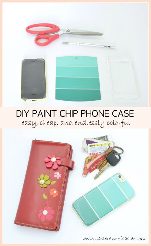 Win A Free Iphone 6 >> DIY Paint Chip Phone Case | Diy phone case, Diy case, Diy painting