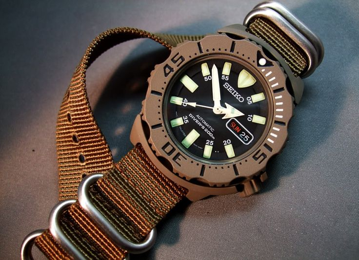 seiko monster military style