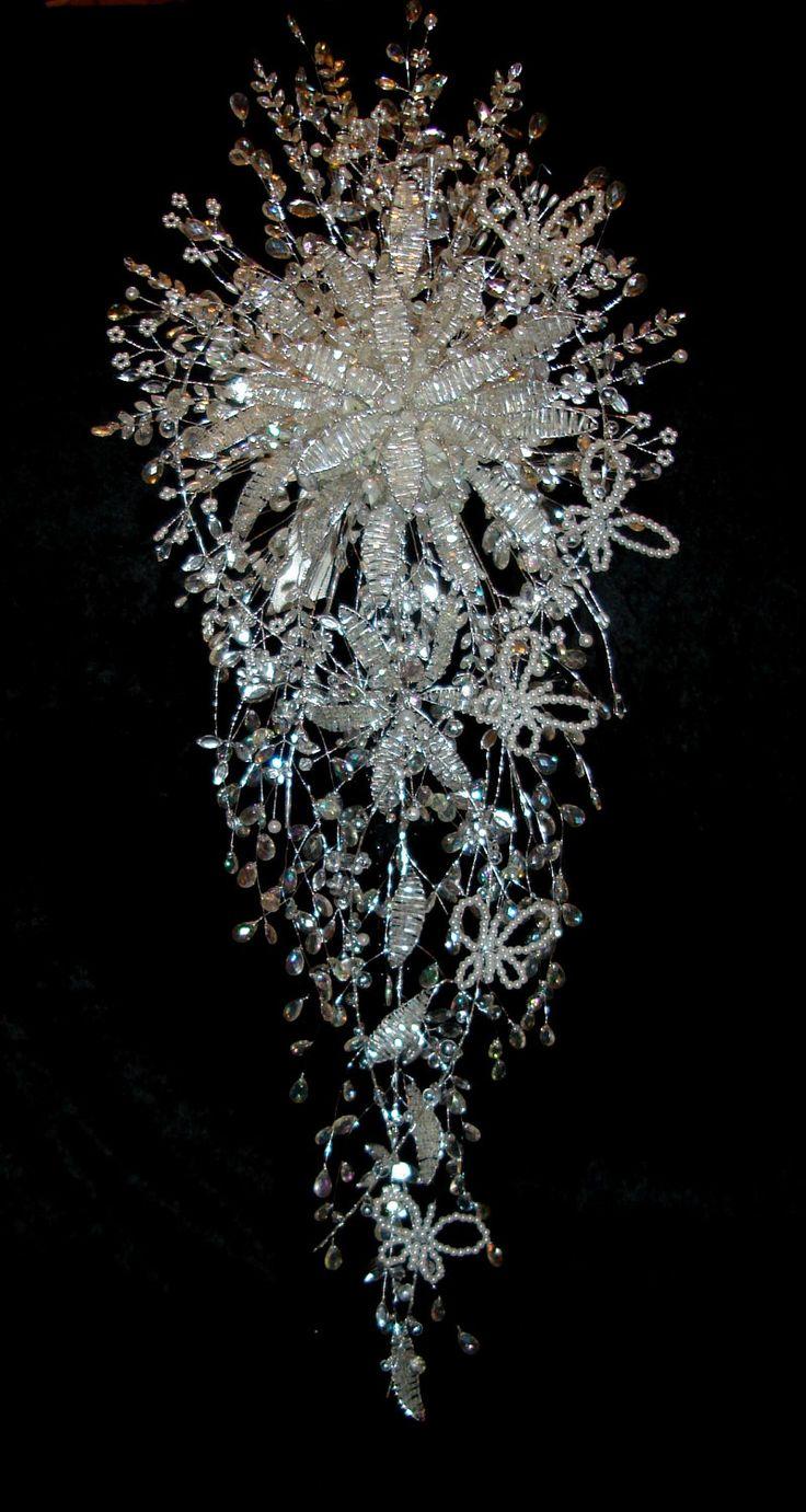 Crystal Bouquet - Wedding Flowers - Bridal Bouquet. £174.99, via Etsy.