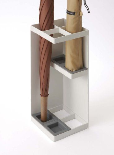 """Square"" Metal Small Umbrella Cane Stand, Accommodates 4 Umbrellas , 6 – Sunrise Image"