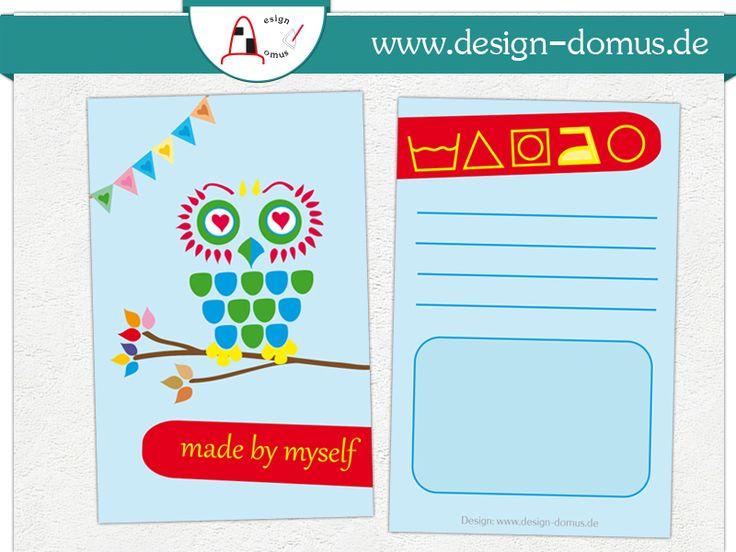 #Hangtag mit Pflegesymbolen Erhältlich in unserem Shop: http://shop.design-domus.de/Geschaeftsausstattung/Textilkennzeichnungen/Textilkennzeichnung-mit-Motiv-Eule::21.html