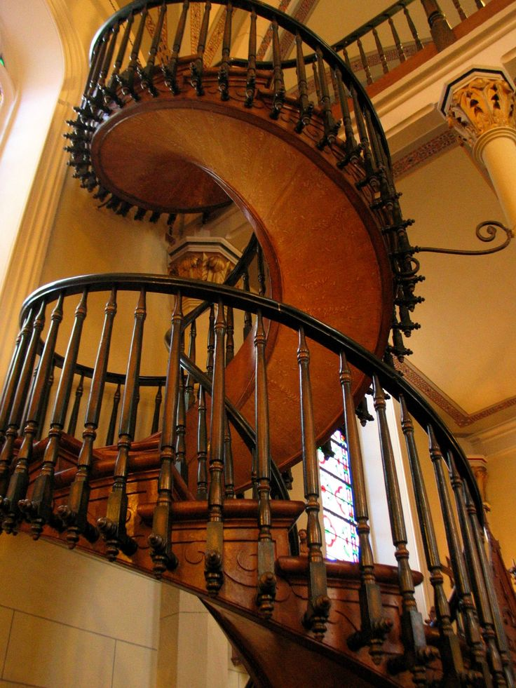 Love the spiral staircases.