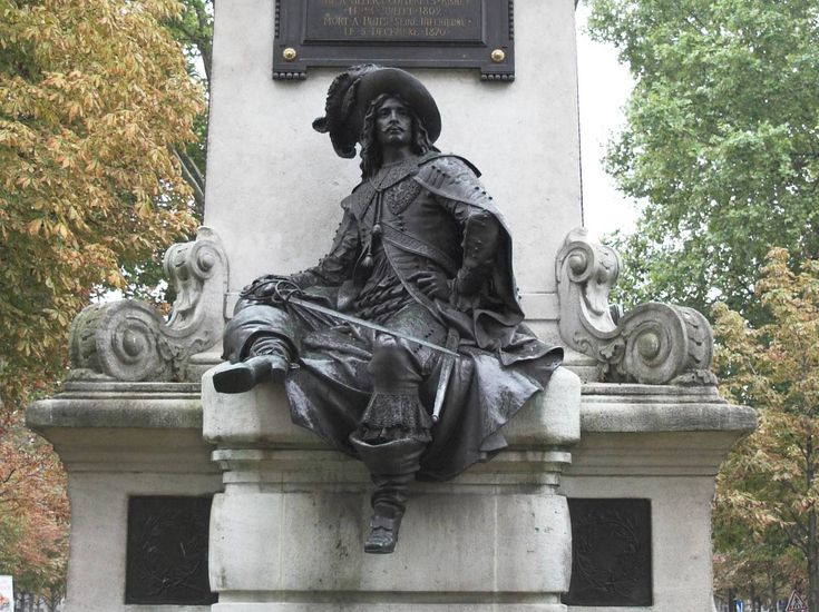 """Statue_d'Artagnan_Paris / The Three Musketeers  is a novel by Alexandre Dumas,  serialized in March–July 1844. Set in the 17th century, it recounts the adventures of a young man named d'Artagnan after he leaves home to travel to Paris, to join  Louis XIV's Musketeers of the Guard. D'Artagnan is not one of the musketeers of the title; those are his friends Athos, Porthos, and Aramis, inseparable friends who live by the motto """"all for one, one for all"""" .: Gregorian Blog, Statues D Artagnan, Douc France, Musketeers, Travel France, Paris France, Dartagnan Paris, D Artagnan Paris, Benedictine Colleges"""