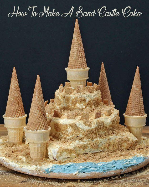 17+ best ideas about Sand Castle Cakes on Pinterest Sand ...