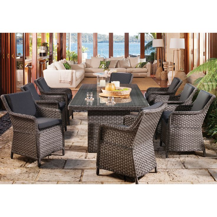 Shelta Anglesea 9 piece Dining Setting - BBQ's & Outdoor