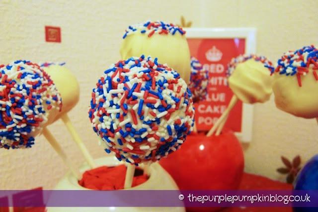 red white amp blue cake pops