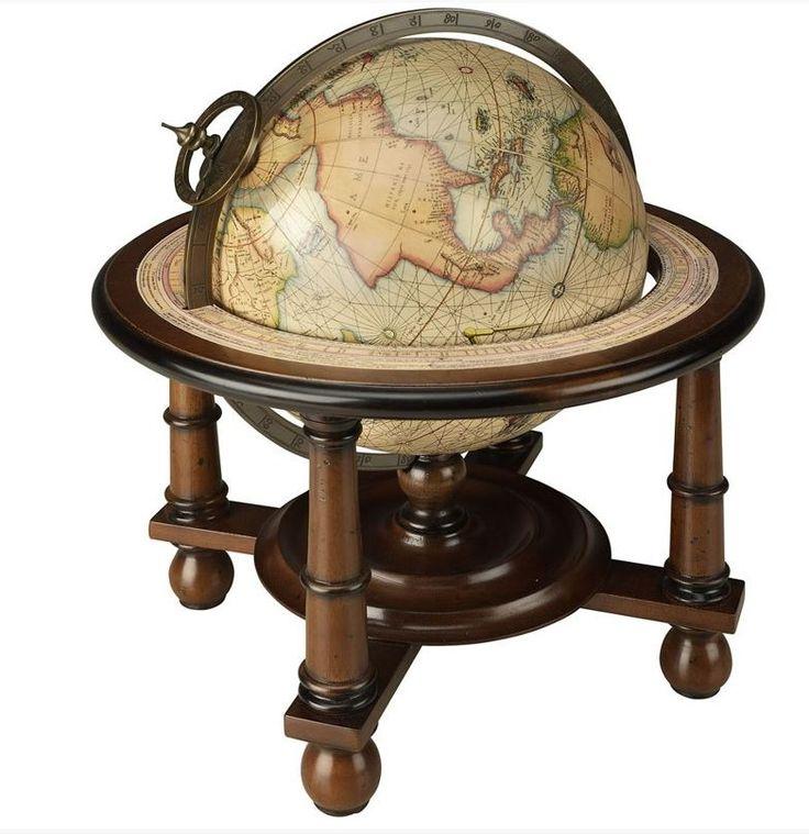 Mappamondo con esatta riproduzione delle cartografie di Mercator del 16° secolo con basamento in legno tornito, finitura noce. Il meridiano in bronzo con bussola. Ti aspettiamo in nostro showroom! #SalesByCaroti #Saldi PREZZO: € 199 (Sconto 40% - Prezzo originale €332) Cod. Prodotto: A023F