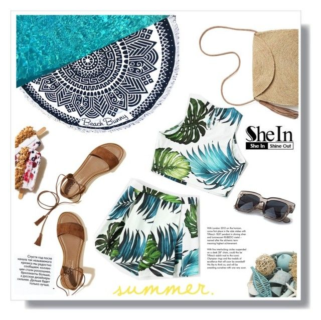 """Summer Outfit"" by metropulse ❤ liked on Polyvore featuring Beach Bunny, Pier 1 Imports, Hollister Co., Mar y Sol and Tiffany & Co."