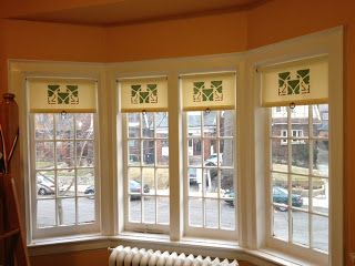 Three Leaf Extraction Craftsman Roller Shades Window Treatment - Craftsman window treatments