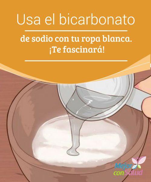Usos con el bicarbonato para la limpieza de la ropa  El bicarbonato de sodio es un buen desodorante, además de un limpiador natural. Utilizado en el lavado y limpieza de la ropa.