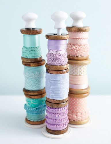 Craft, Show & Sell- Wooden spool holder by toriejayne, tutorial