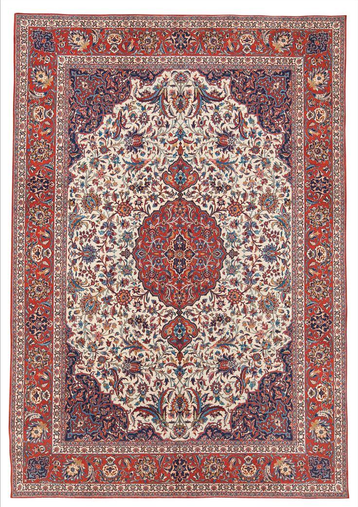Persian Isfahan Rug Late 19th C