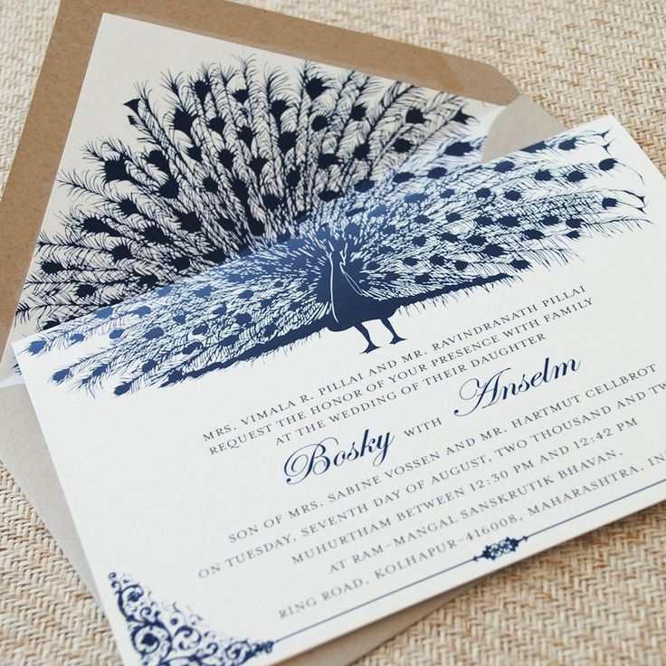 Peacock Wedding Invitations: 17 Best Ideas About Peacock Wedding Invitations On