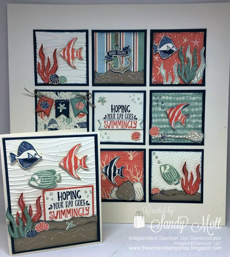 Stampin' Up! Seaside Shore, The Scrap n' Stamp Shop: CREATIVE INKING BLOG HOP - Showing Off The Pretties