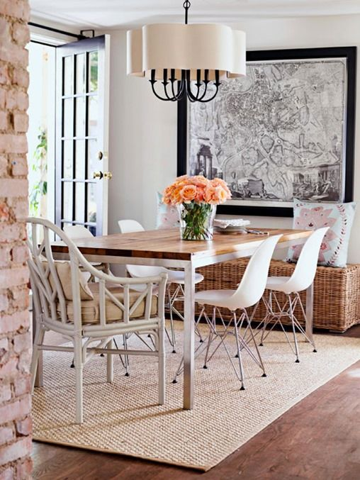 Need a new dining room rug? Check out Kate's post on Centsational Syle to see her tips before buying: http://www.bhg.com/blogs/centsational-style/2013/06/15/dining-room-rug-rules/?socsrc=bhgpin061713rugs