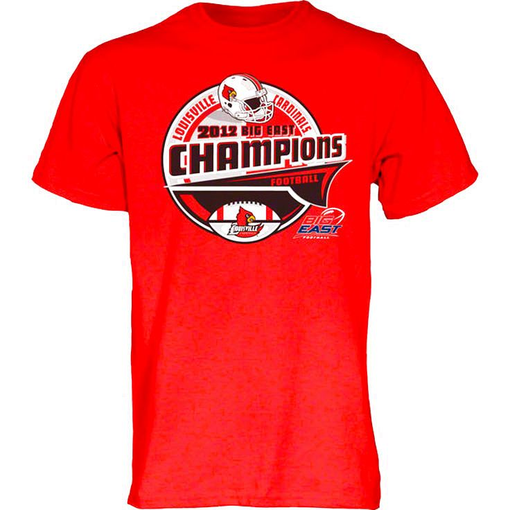 Louisville Cardinals Youth 2012 Big East Conference Football Champions Bunt T-Shirt - $14.24