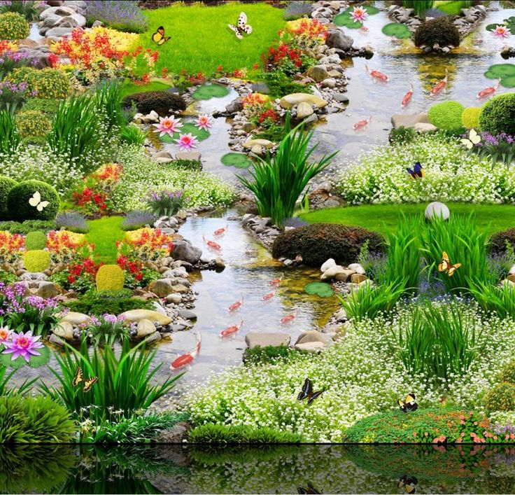32.33$  Buy here - http://aliynt.shopchina.info/1/go.php?t=32716774995 - Custom vinyl sticker roll 3d flower and grass carp stream 3d flooring sticker self-adhesive wallpaper waterproof floor murals  #magazineonlinebeautiful