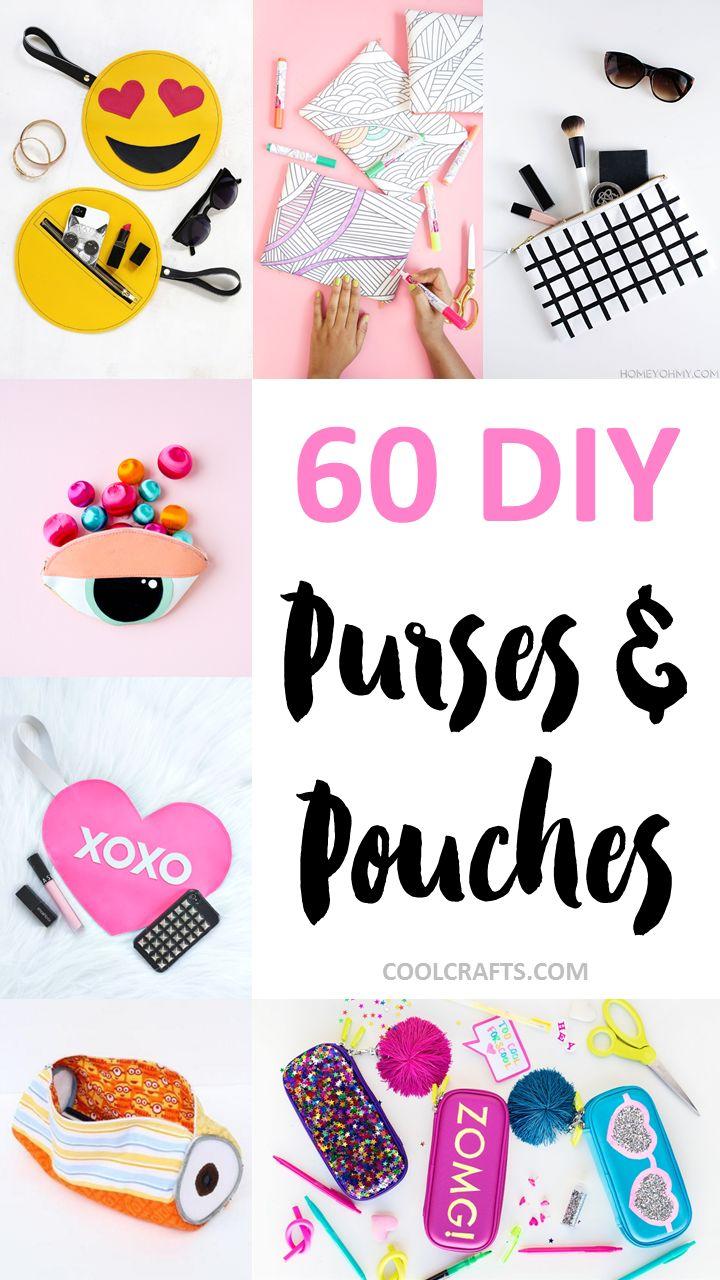 60 Stylish DIY Purse, Handbag, and Pouch Ideas, http://www.coolcrafts.com/diy-purse-handbag-pouch-ideas/