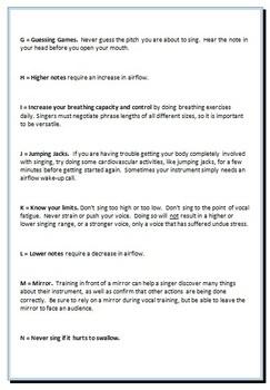 A Z Of Vocal Tips From A Music Teacher