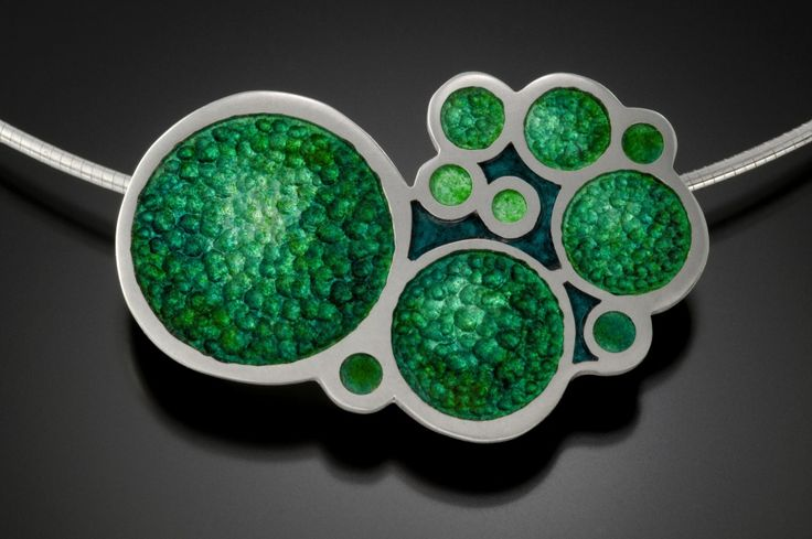 Molly Strader: Hand cut Champleve Enamel