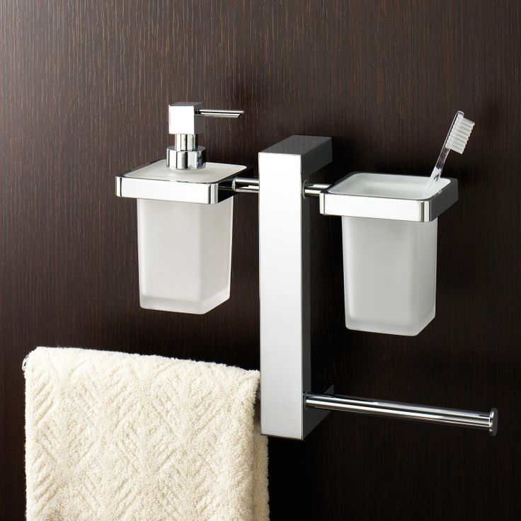 (Limited Supply) Click Image Above: Gedy Bridge Wall Mounted Rack With  Toothbrush Holder, Soap Dispenser And Sliding Towel Rail